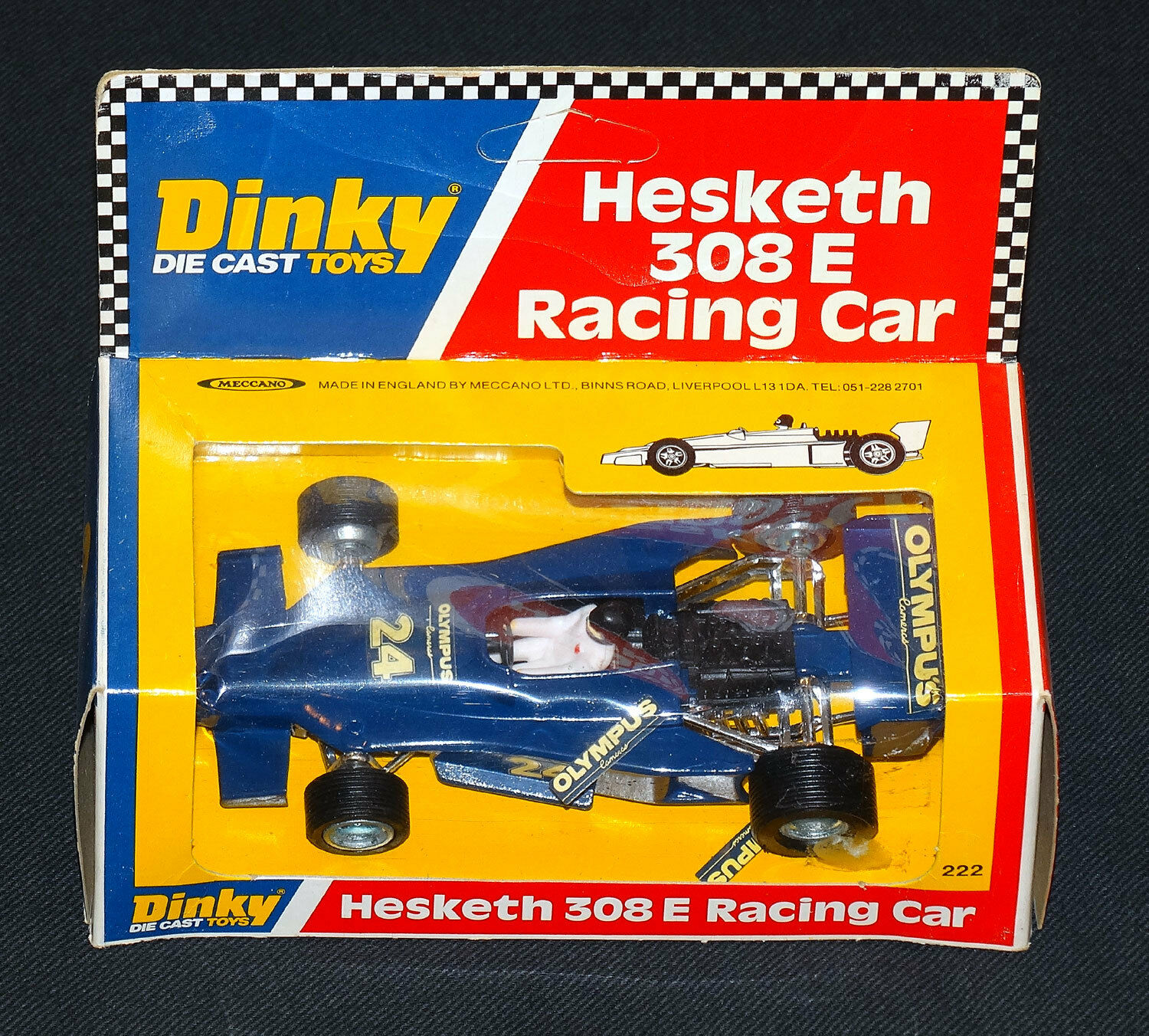 Dinky Hesketh 308 E Racing Car Mint in in in Window Box Clean Vintage 1978 Meccano 03fb30