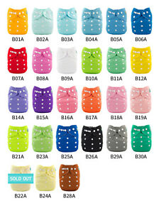 U-Pick-ALVABABY-Cloth-Pocket-Diapers-Reusable-Washable-Nappies-With-Insert-Lot