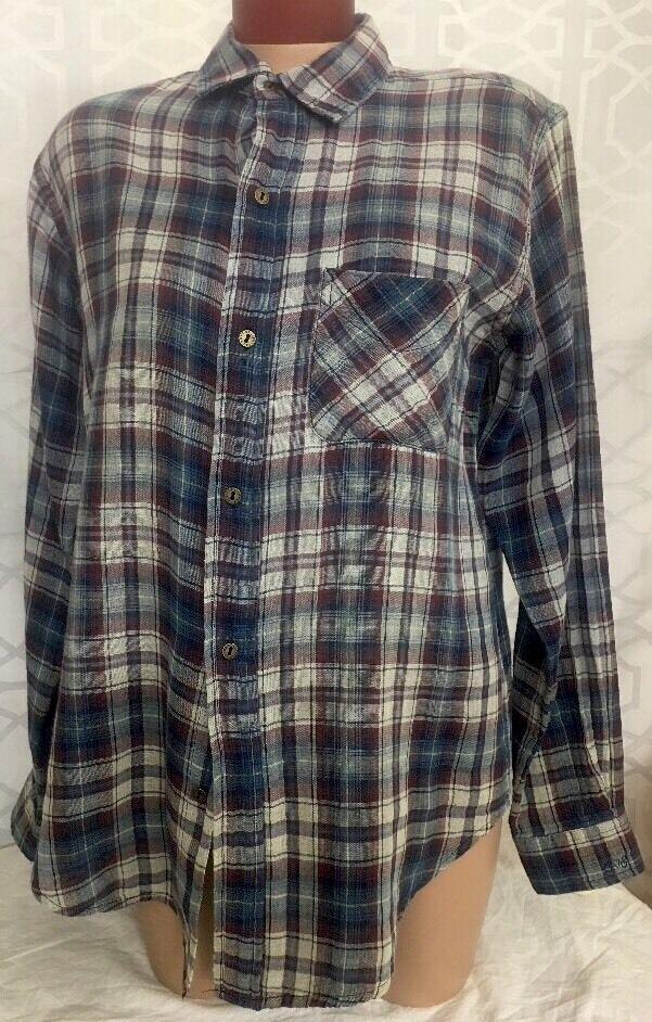 Current  Elliott Camisa Algodón tela escocesa resaca Nuevo Con Etiquetas  218 Talla 0  marcas en línea venta barata