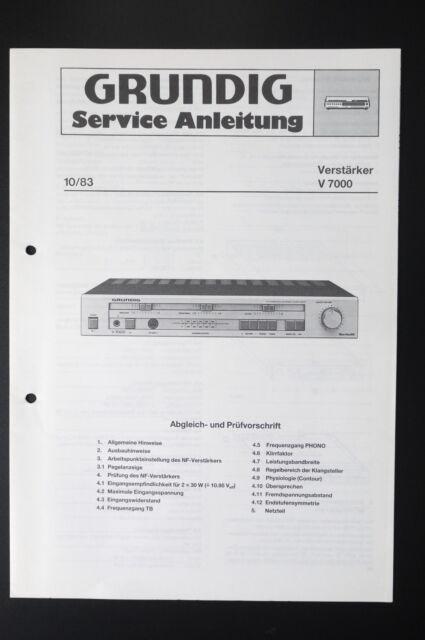 grundig amplifier v 7000 original service manual guide wiring rh ebay com Grundig Majestic Grundig Stereo Console