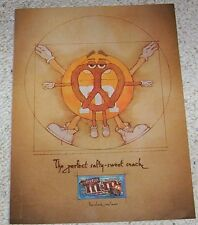 2011 ad page - M&M's chocolate pretzel candies CUTE Orange print Advert Clipping