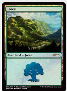 Magic The Gathering FOREST PROMO FOIL Alayna Danner Land Standard Showdown