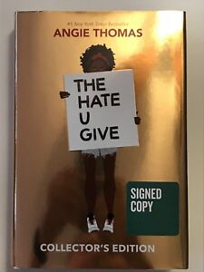 Signed-ANGIE-THOMAS-The-Hate-U-Give-Signed-Autographed-Collector-039-s-Edition-Book