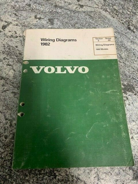 1982 Volvo Wiring Diagrams Electrical Factory Shop Service Repair Manual