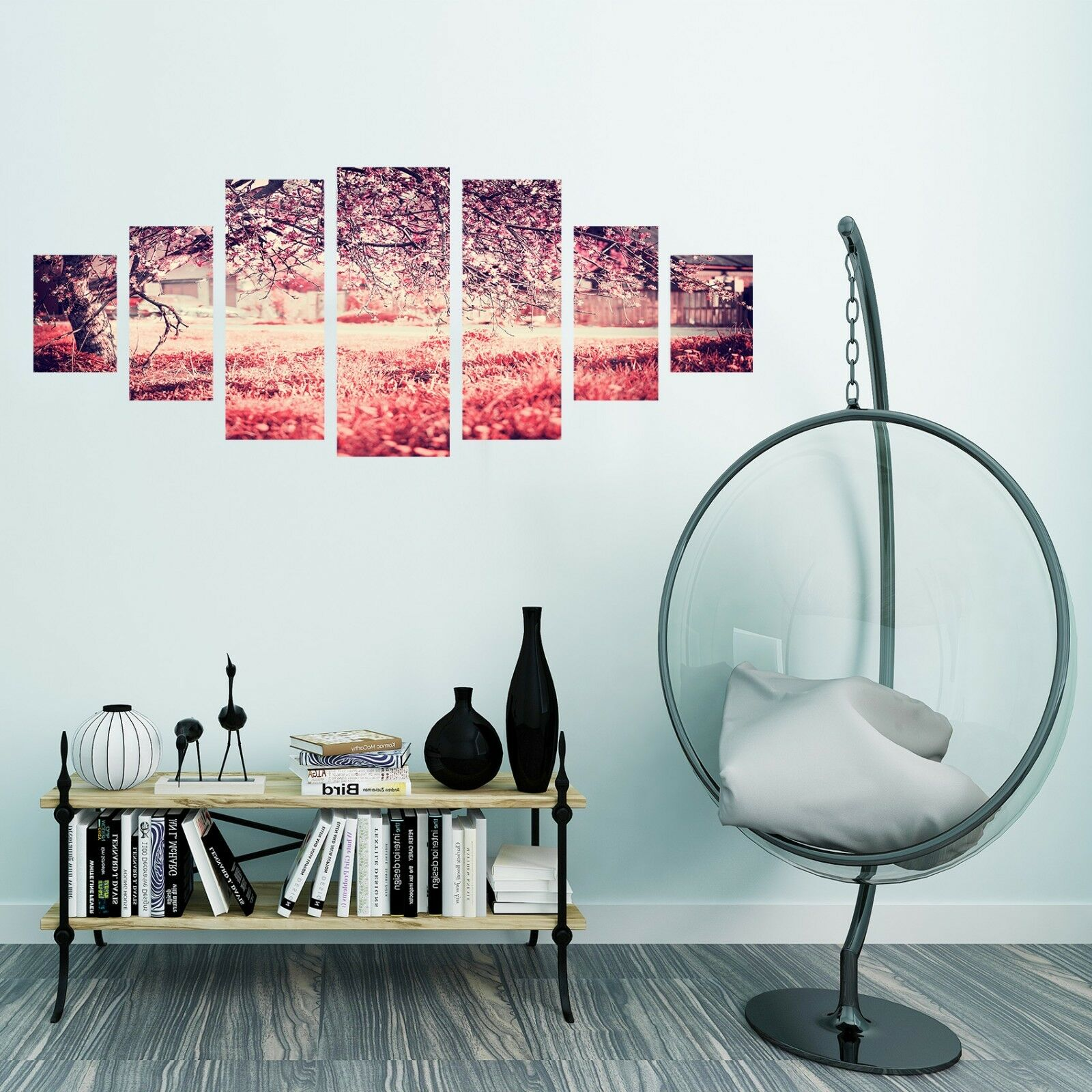 3D Red Tree Meadow 557 Unframed Print Wall Paper Decal Wall Deco Indoor AJ Wall