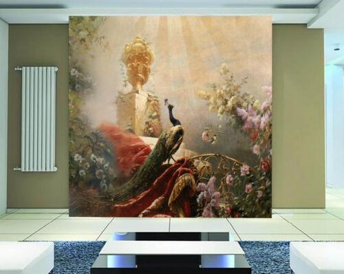 3D Elegant Peacock 9017 Wall Paper Wall Print Decal Wall Deco Wall Indoor Murals