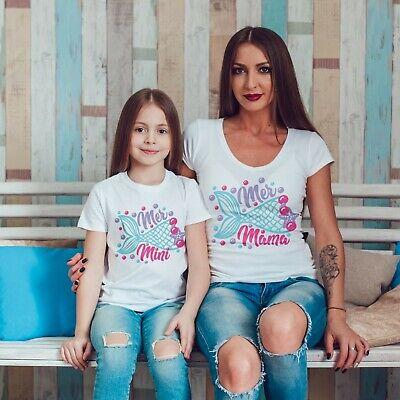 Selbstlos Mer Mama And Mer Mini Mermaid Matching T Shirts T-shirt Mother Daughter Gift 541 Niedriger Preis