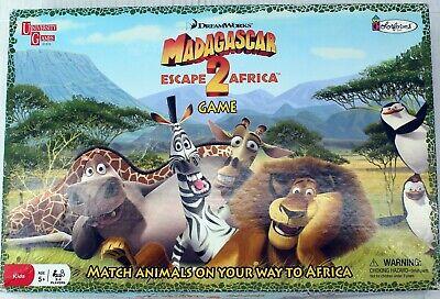 Madagascar Escape 2 Africa Board Game Family Kids Ages 5 Colorforms Dreamworks Ebay