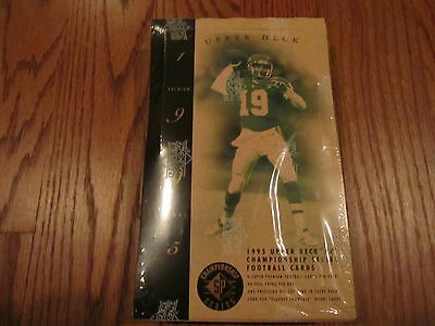 1995 Upper Deck SP Championship Series Football Factory Sealead Box