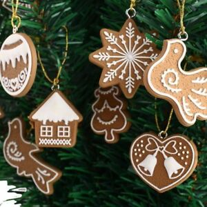 Polymer Clay Christmas Tree Decorations.11pcs Lovely Polymer Clay Ornaments Christmas Tree Biscuits
