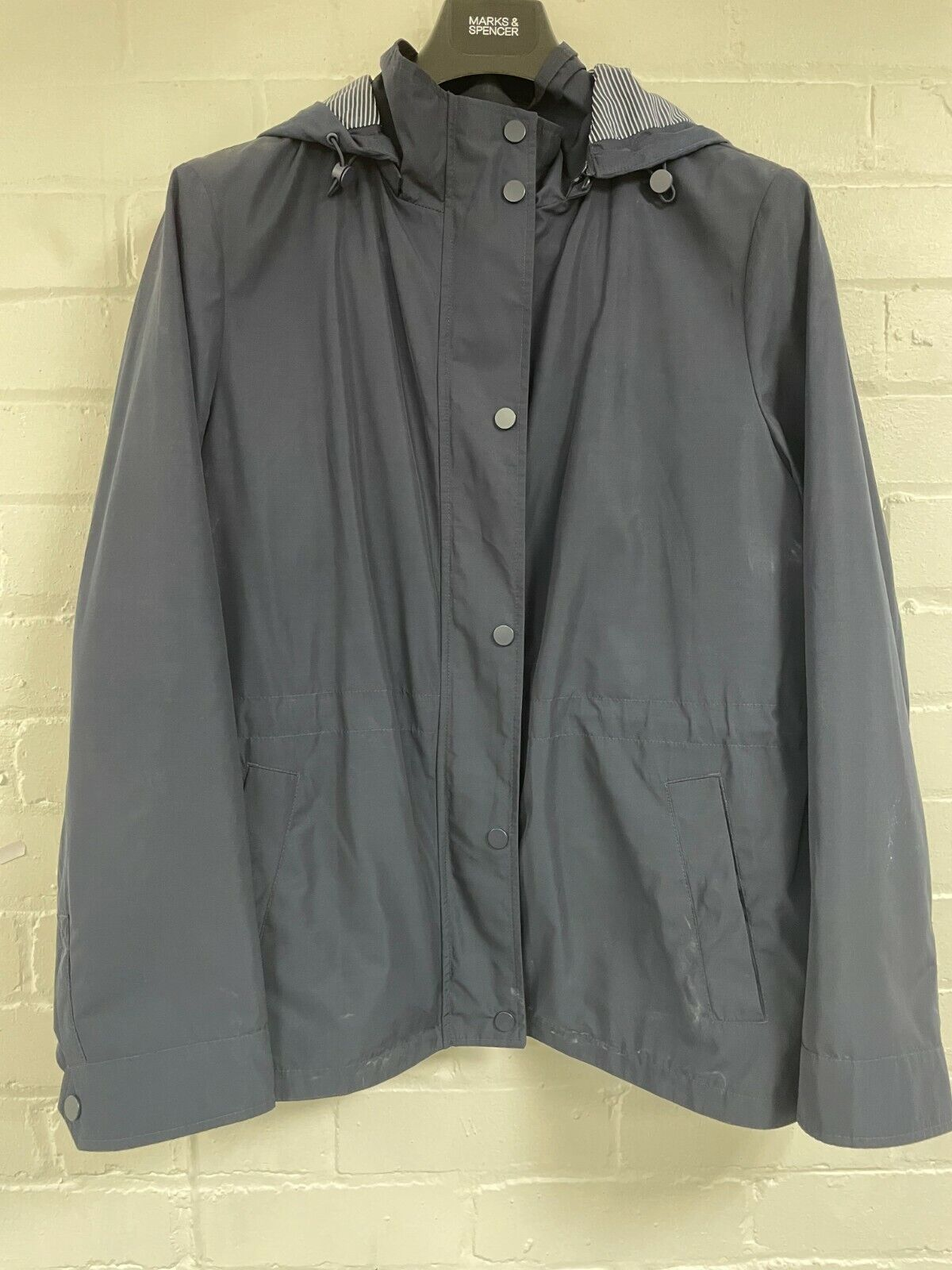 Ex M*S Navy Blue Parka w/ Hood Size 20 (OR2.302)