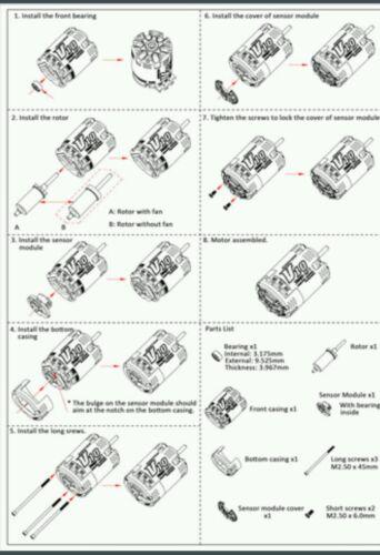 HOBBYWING XERUN  SENSORED BANDIT SERIES BRUSHLESS MOTORS 10.5T 21.5T AVAILABLE