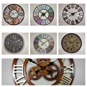 Details About Large Diy Wall Clock Vintage Antique Style Retro Home Decor 30cm 40cm 50cm 60cm