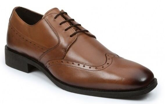 Giorgio Brutini Kwitt  Men's Oxford Tan Leather Wing Tip Dress shoes 249004