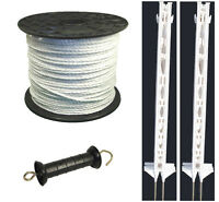 Electric Fence / Fencing: 4ft Post,400m Rope Xvalue Kit