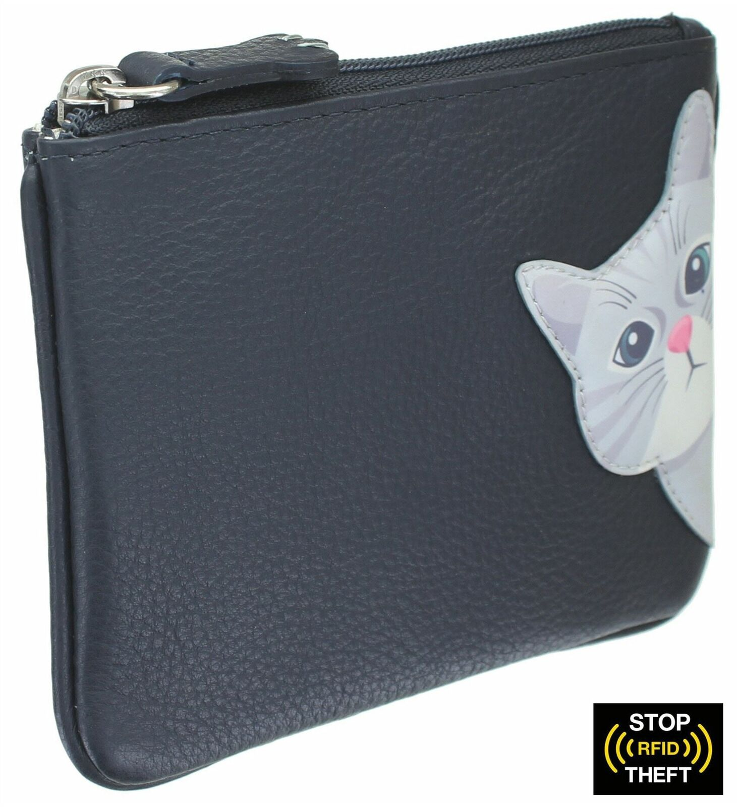 Mala Leather Cleo the Cat Collection Leather Coin Purse RFID Blocking 4230_50