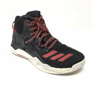 130bf69f46b6 Men s Adidas D Rose 7 Shoes Sneakers Size 6.5 Basketball Black Red ...