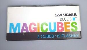 Sylvania Blue Dot Magicubes 3 cubes, 12 flashes. New in box