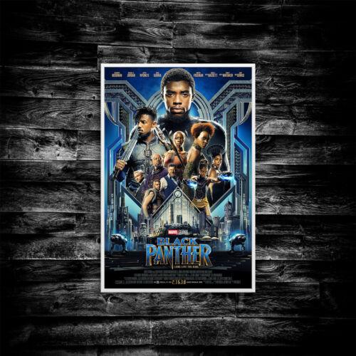 Black Panther Movie Poster Print Wall Art Cinema A4 A5 A6 A3 Film 1005