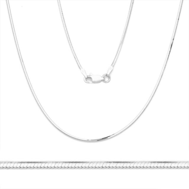 "14K Real White Italian Gold 0.9mm Singapore Chain Plain Necklace 16/"" 18/"" 20/"" 22/"""