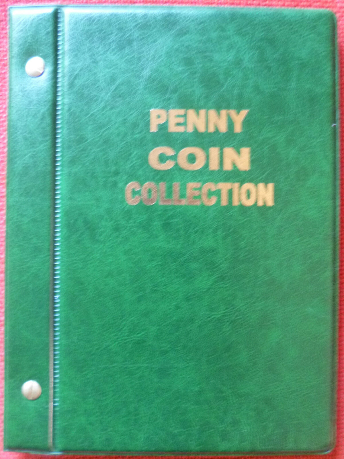 VST AUSTRALIAN 1d COIN ALBUM PENNY COLLECTION 1911 to 1964 MINTAGES PRINTED