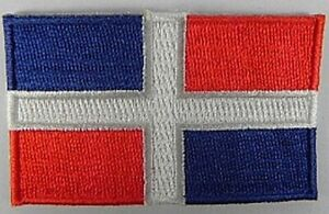 Dominikanische-Republik-Aufnaeher-gestickt-Flagge-Fahne-Patch-Aufbuegler-6-5cm-neu