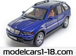 BMW X5 E53 1999-2003 blau blue metallic 1:18 Anson
