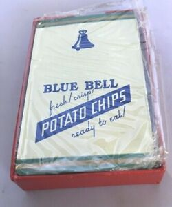 Vintage-Blue-Bell-Potato-Chips-Remembrance-Advertising-Playing-Cards-Tax-Stamp