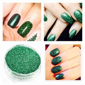 Metallic Green Glitter Acrylic Powder Pot Manicure Nail Art