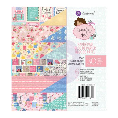"Nuevo Prima Inc 6/""x6/"" Cojín de papel viajando Girl"