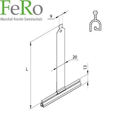 10 x Rolladen Feder Aufhängung für Rollladen Rollo MAXI Aufhängefeder Stahlband