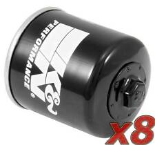 8 Pack: Oil Filter K&N KN-204 (8) for Motorcycle Applications
