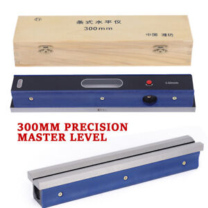 12/'/' 300mm Master Precision Level in Fitted Box For Machinist Tool 0.0002/'/'//10/'/'