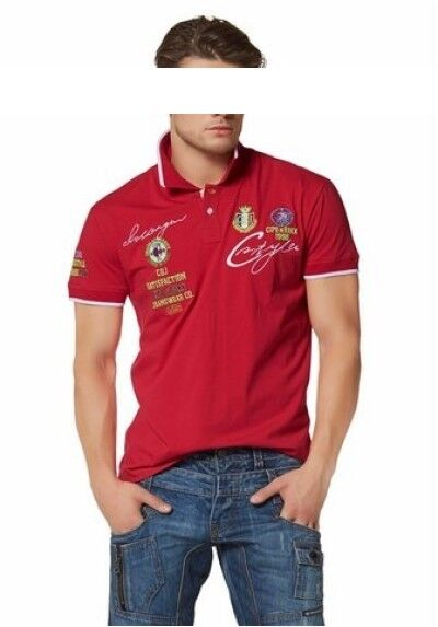 Cipo & Baxx Polo Shirt New SIZE L-XXXL Men's Jersey Red Stretch C&b Slim Fit