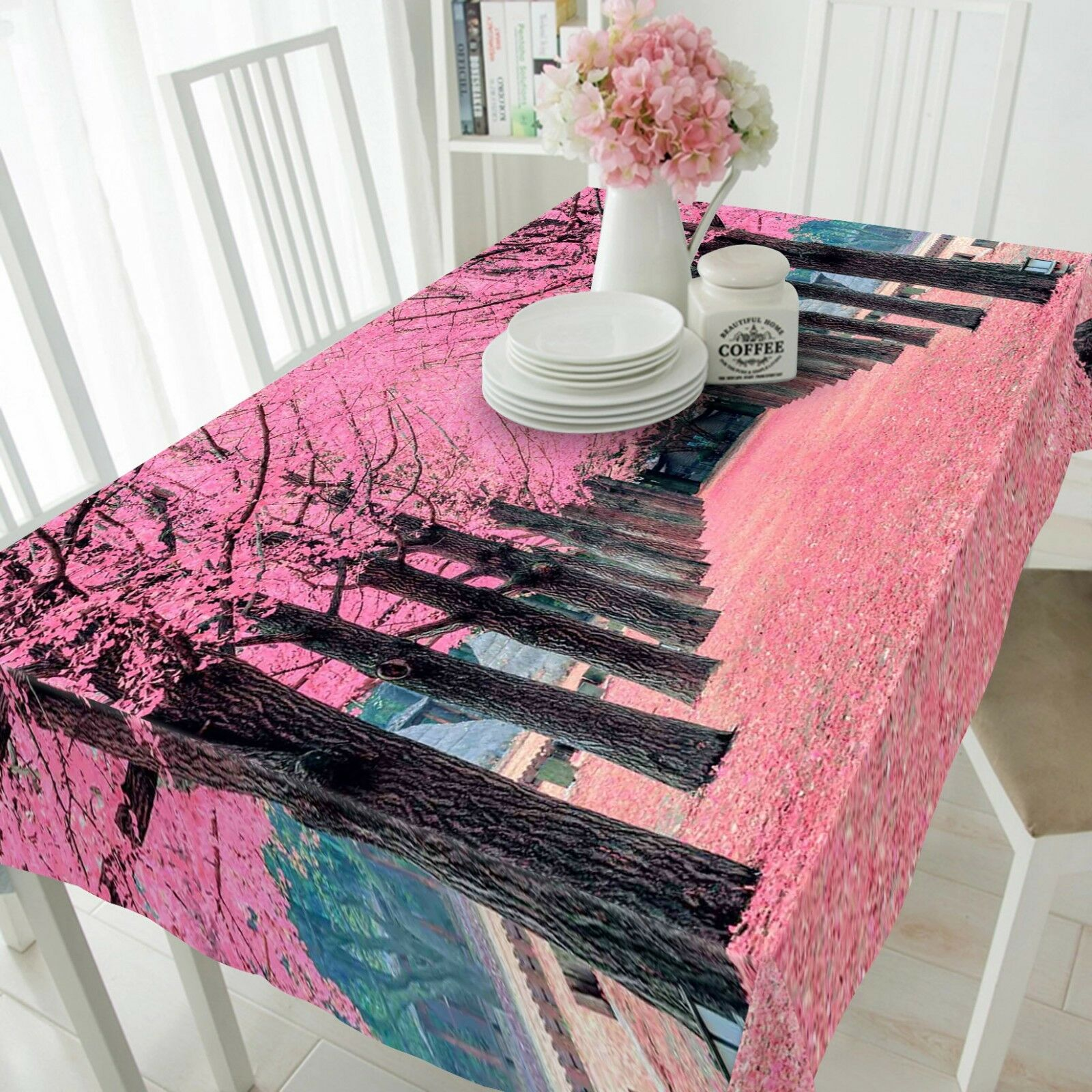 3D rose Flower Tree 2 Tablecloth Table Cover Cloth Birthday Party Event AJ Lemon