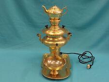 4 pcs VINTAGE PERSIAN SIGNED ZANJANI SAMOVAR TEA SET