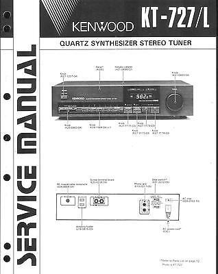 Aufrichtig Kenwood Original Service Manual Für Kt-727 /l
