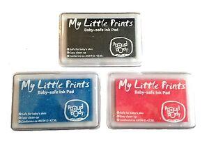 Baby-SAFE-NONTOXIC-Hand-Print-Footprint-INK-PAD-Choose-Pink-Blue-or-Black