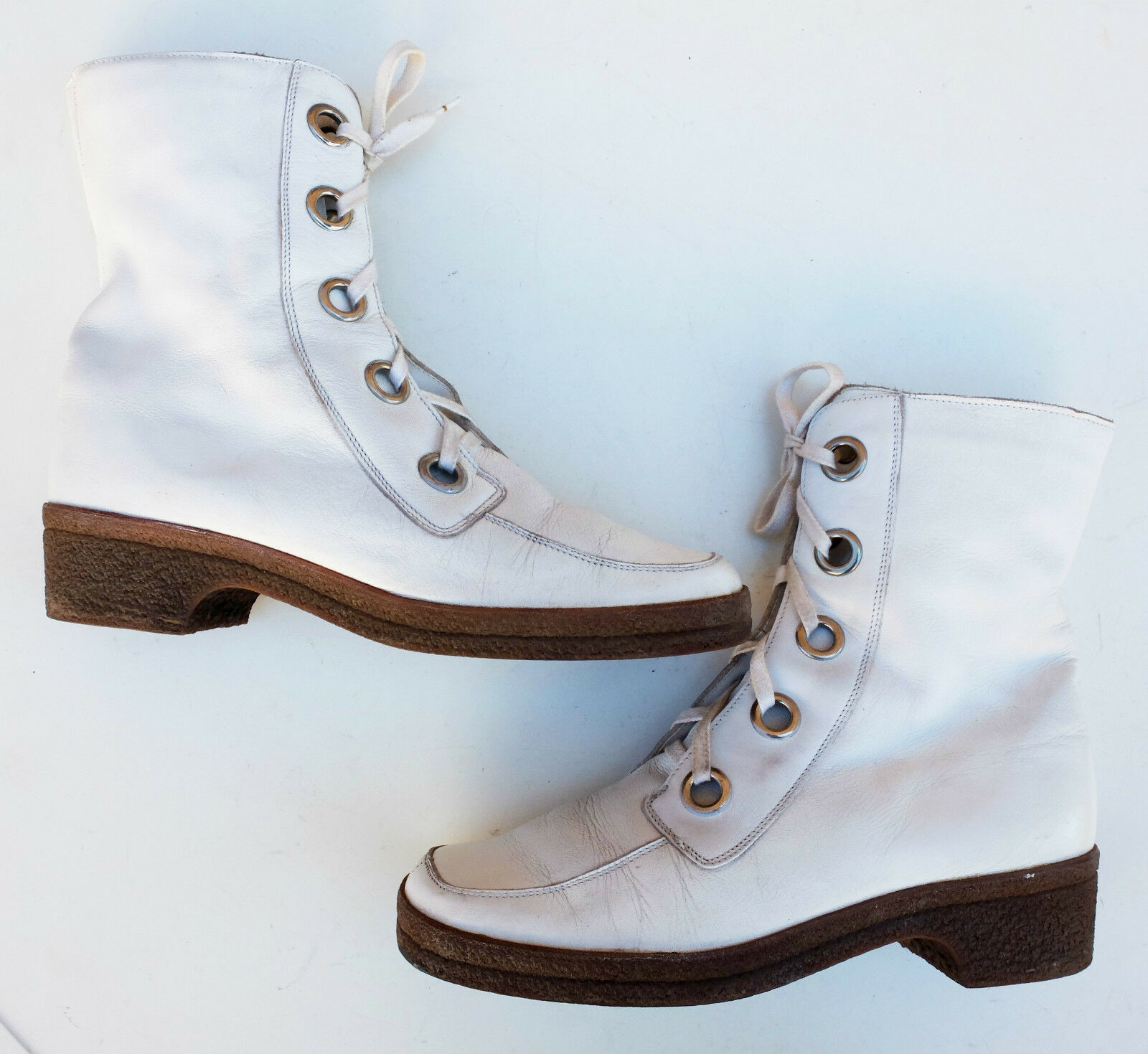 Délaçage femmes suede bottes d'hiver bottes uk 6,5 Cuir true vintage