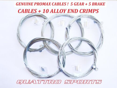 SHIMANO ETC 5 CYCLE INNER GEAR /& 5 CYCLE INNER BRAKE CABLES 10 CRIMPS MTB