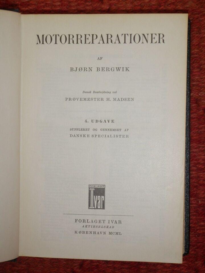 Ivars motorreparationer, Bjørn Bergwik, emne: bil og
