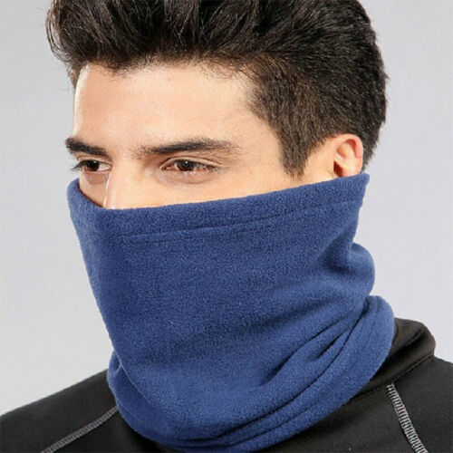 Unisex Thermal Neck Warmer Snood Cover Scarf Tube Fleece Motorbike Cycling Hot