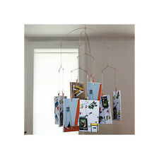 Picture Clips Hanging kikkerland mh19 copper modern art photo clip hanging mobile 10