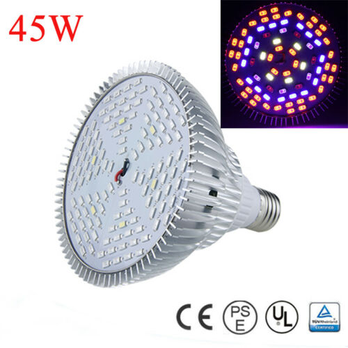 20W 30W 45W 80W LED Grow Light E27 Lamp Bulb for Plant Hydroponic Full Spectrum