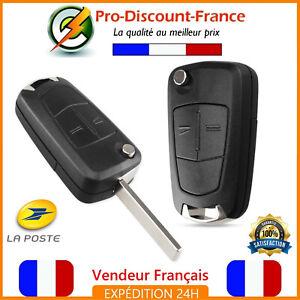 Coque-Cle-Telecommande-Pour-Opel-Astra-Tigra-Zafira-Vectra-2-Boutons-Lame-Plip