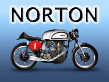 Norton Manx Classic British Motorcycle Old Vintage Garage Novelty Fridge Magnet