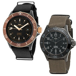 Glycine Combat Sub Black Dial Automatic Mens Watch ...