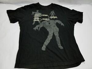 190e58a7789 Black T-Shirt Bracket Graphic Zombies vs Pirates Vampires   Ninjas ...