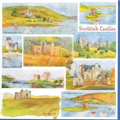 Emma Ball British Scenes County Counties Greeting Card