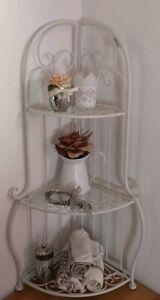 Dettagli su Mensola da Cucina Armadio Freestanding Scaffale Angolare  Metallo Shabby Chic